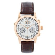 A. Lange & Söhne Rose gold Manual winding White Roman numerals 39mm pre-owned Datograph