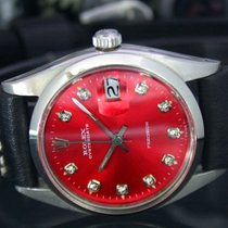 Rolex Oyster Precision Steel 34mm Red No numerals