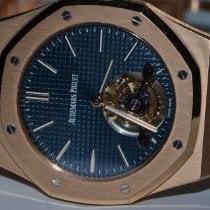 Audemars Piguet Royal Oak Tourbillon Rose gold 41mm Blue No numerals