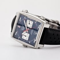 TAG Heuer Monaco Calibre 11 Steel 39mm Blue No numerals