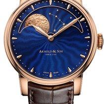Arnold & Son HM Perpetual Moon Aur roz 42mm De culoarea şampaniei