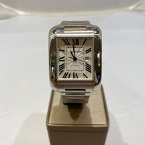 Cartier Tank Anglaise Staal 30mm Zilver