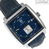 TAG Heuer Monaco Calibre 6 Steel 37mm Blue No numerals