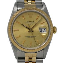 Rolex Oyster Perpetual Date Acier 34mm Champagne