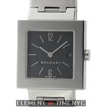 Bulgari Quadratto Stainless Steel 27mm Black Dial Quartz