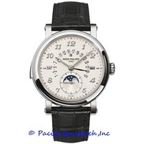 Patek Philippe Minute Repeater Perpetual Calendar White gold 37mm Silver Arabic numerals United States of America, California, Newport Beach