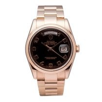 Rolex President Daydate Automatic Watch 118205 18k Rose Gold...