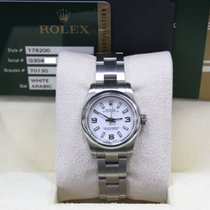 Rolex 176200 Oyster Perpetual Ladies White Dial Stainless...