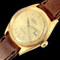 Rolex Datejust Yellow Gold 6305 Ovettone Bubble Back OCC Swiss