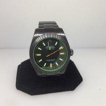 Rolex Milgauss Stainless Steel Black Pvd Men's Watch 116400gv...