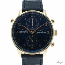 IWC Portuguese Chronograph Rose gold 41mm Black Arabic numerals
