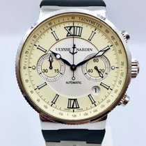 Ulysse Nardin Marine Chronograph Steel 41mm Silver Roman numerals