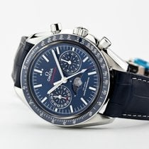 Omega Speedmaster Professional Moonwatch Moonphase Сталь Синий Без цифр