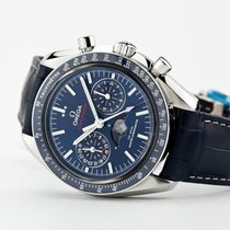 Omega Speedmaster Professional Moonwatch Moonphase Acero Azul Sin cifras