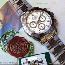 Rolex Daytona Staal 40mm Wit Geen cijfers