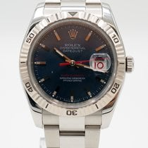 Rolex Datejust Turn-O-Graph Otel 36mm Albastru Fara cifre