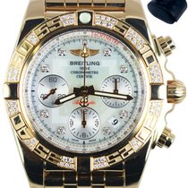 Breitling Chronomat 41 pre-owned 41mm Mother of pearl Chronograph Date Rose gold