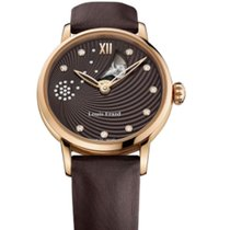 Louis Erard EMOTION BROWN  CASE ROSE PVD 64603-PR36