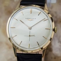 Longines 18k Rose Gold Men's Mens 34mm Manual 1950s Luxury...