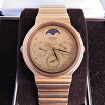 Seiko Quartz Moonphase Day/date 7f39-6009, Pristine Cond....