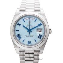 Rolex Day-Date 40 Platine 40.00mm Bleu