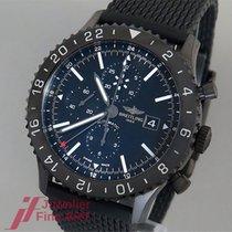 Breitling Chronoliner Blacksteel Edelstahl/Kautschukband - NEU