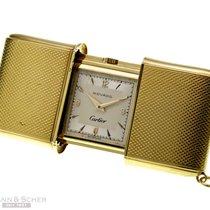 Cartier MOVADO Ermeto Travel Clock 18k Yellow Gold Bj-1960