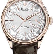 Rolex Cellini Date Roségold 39mm Silber