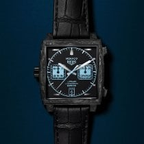 TAG Heuer Carbon Automatic Black No numerals 39mm new Monaco