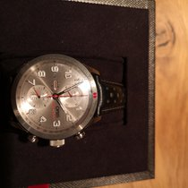 Oris Audi Sport pre-owned Silver Chronograph Date Leather