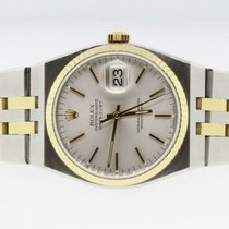 Rolex Datejust Oysterquartz Gold/Steel 36mm White No numerals