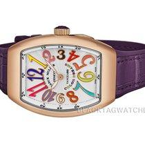 Franck Muller Rose gold Quartz Silver Arabic numerals 42mm new Vanguard