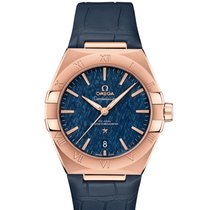 Omega Rose gold Automatic Blue 39mm new Constellation