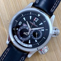 Jaeger-LeCoultre Master Compressor Geographic usados 41mm Negro Fecha GMT Piel