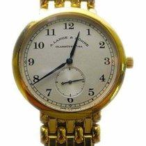 아랑게운트죄네 옐로우골드 36mm 수동감기 1815 중고시계
