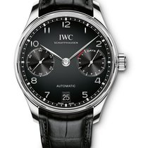 IWC Portuguese Automatic Acier 42,3mm Noir Arabes France, Paris