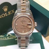 Rolex Lady-Datejust Gold/Steel 26mm Mother of pearl Roman numerals