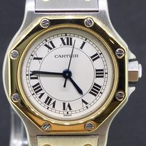 卡地亚  (Cartier) Santos Octagon Gold/Steel 24MM Automatic Mint