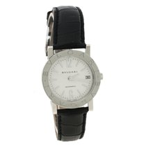 Bulgari White Stainless Steel BB 38 SL Auto Women's Wristwatch...