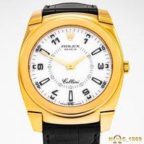 Rolex Cellini Жёлтое золото 36 mmmm Белый Aрабские