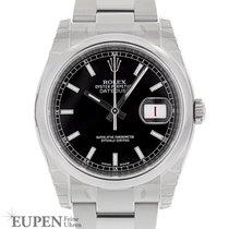Rolex Datejust Steel 36mm Black No numerals