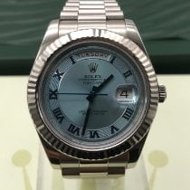 Rolex Day-Date II Or blanc 41mm Bleu France, paris