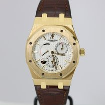 Audemars Piguet Yellow gold Automatic Silver pre-owned Royal Oak Dual Time