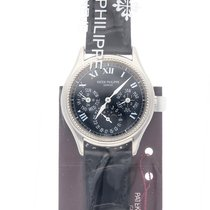 Patek Philippe White gold Automatic Black Roman numerals 36mm pre-owned Perpetual Calendar