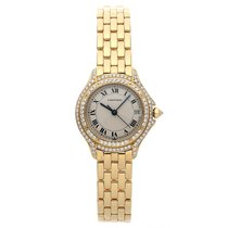 Cartier Cougar Yellow gold 26mm Silver Roman numerals United States of America, Pennsylvania, Bala Cynwyd