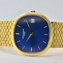 Patek Philippe Golden Ellipse Or jaune 34,5mm Bleu Sans chiffres