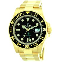 Rolex 18K Yellow Gold 40mm Ceramic Bezel GMT Master II 116718...