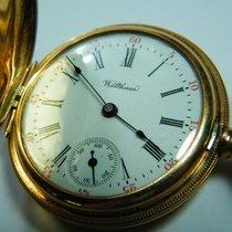 Waltham Žluté zlato Ruční natahování Waltham Pocket Watch Gold 14k použité