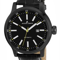 Jacques Lemans Sport Porto Steel 48mm Black