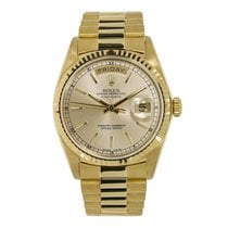 Rolex DAY-DATE 36mm Yellow Gold Champagne Dial Watch 18038